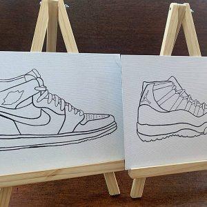 Sneakerheads Pre-Drawn Paint Kit