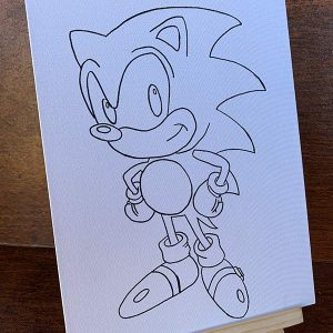 Sonic the Hedgehog Pre-Drawn Canvas