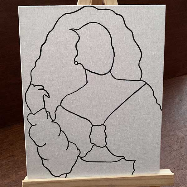 Pre-Drawn Canvas Paint Kit with Easel