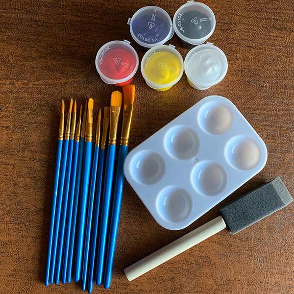 Pre-Drawn Canvas Paint Kit