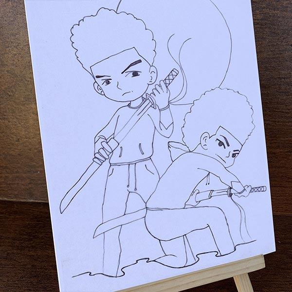 "3rd Generation Samurai 11""x14"" Pre-Drawn Canvas Paint Kit"