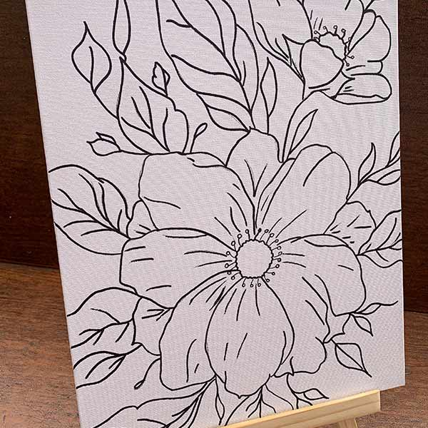 Stunning Flowers Deluxe Pre-Drawn Paint Kit