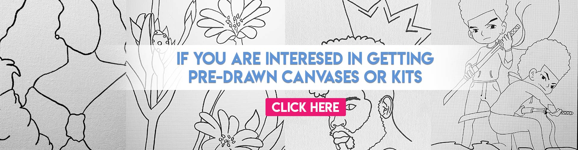 DragunfliDesignz Pre-Drawn Canvas Kits